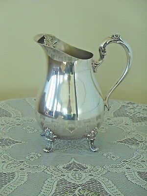 International Silver Co. COUNTESS Silver Plate Water Pitcher #6217  STUNNING!!!