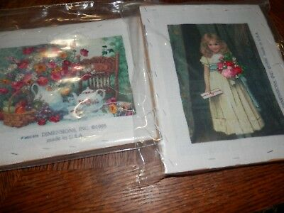 Lot of Dimensions Embroidery Kits, Some are Pre Worked
