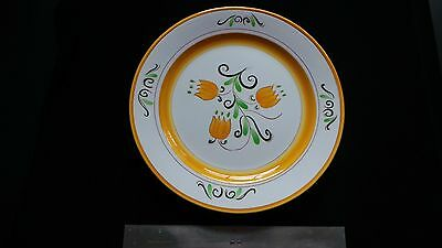 """STANGL YELLOW TULIP 12.5"""" charger plate serving dish LOVELY Mid-century POTTERY"""