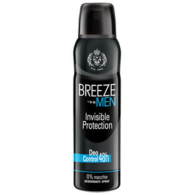 Breeze Men Deodorante Spray Invisible Protection 150 Ml