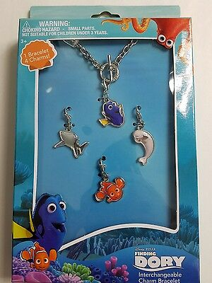 Finding Dory Charm Bracelet  4 Interchangeable charms