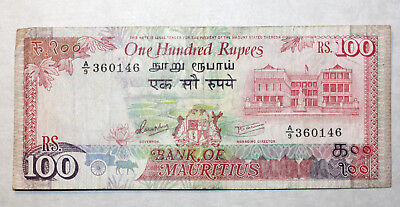 100 Rupees,Bank of Mauritius, 1986.