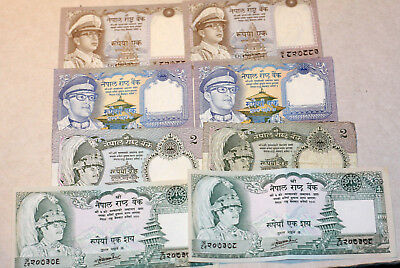 Kl.Lot Rupees, Bank of Nepal, 1972.-87.