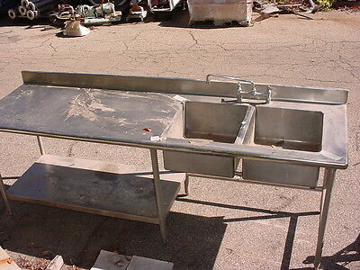 2 bay stainless steel sink