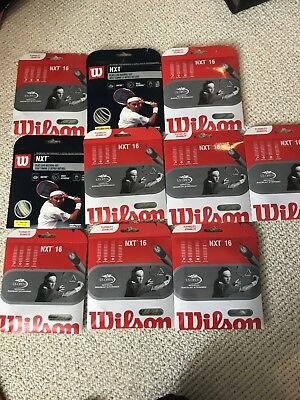 (10) SETS OF WILSON NXT 16g TENNIS STRING, NEW!!!