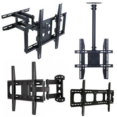 "22-80"" LED Full Motion TV Wall Mount VESA Bracket Tabletop Stand TV Fixed Hanger"