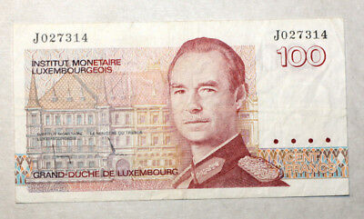 100 Francs, Bank of Luxemborg, 1980.