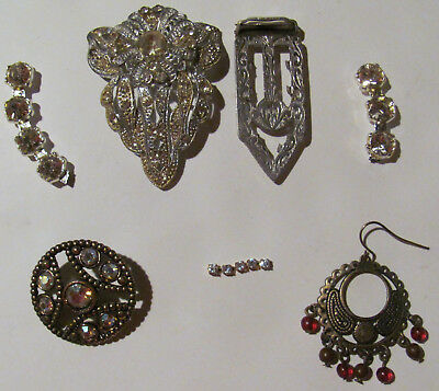 ANTIQUE & VINTAGE JEWELRY FOR PARTS OR REPAIR  Lot of 5