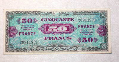 50 Francs, Supplemental French Currency, France, Serie, 1944.