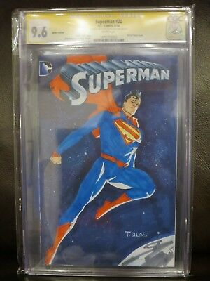 Superman 32 SS CGC 9.6 Thony Silas Sketch Cover Superman
