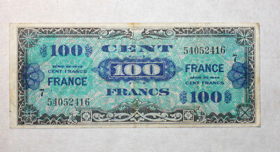 100 Francs, Supplemental French Currency, France, Serie 1944.