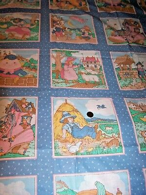 "VIP Nursery Rhyme Sewing Panel fabric Blocks material baby child 44"" X 44"""