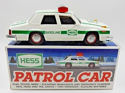 New ~ Vintage 1993 Hess Gasoline Patrol Car W/ Headlights, Tail Lights And Siren
