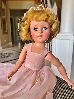 """Vintage 1950s American Character Orig. Early RARE 18"""" Sweet Sue Doll Princess"""