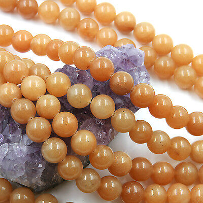 39 pcs 10mm Natural Orange Aventurine Loose Spacer Beads Round 15.5 inch strand