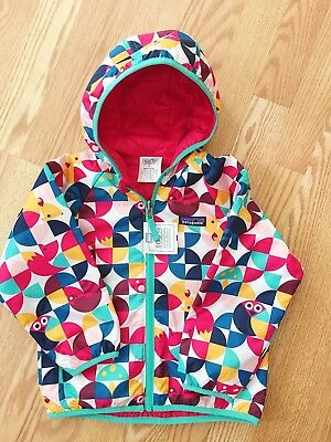 Patagonia Kids Reversible Puff Ball Jacket Playtime Pals Rossi Pink NEW!!! 4 T