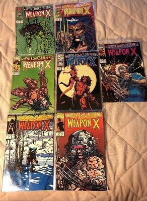 Marvel Comics Presents Weapon X 1991 (Lot Of 7) Issues 73 Through 77 +79 & 81