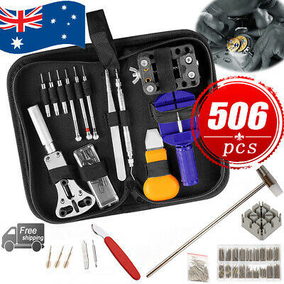 504pcs Watch Repair Tool Kit Back Case Opener Remover Spring Pin Bars Watchmaker