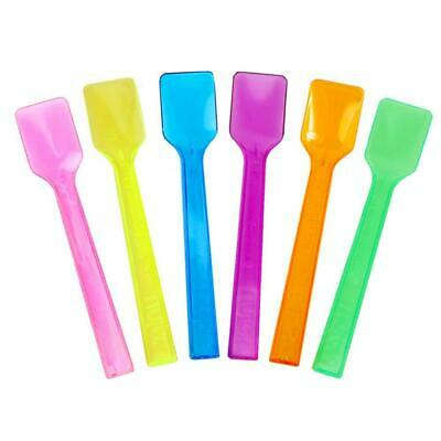 Mixed Colors Plastic Gelato Spoons, Disposable Birthday Party Spoons