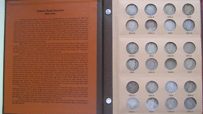 71 Barber Quarters in Dansco Album - Only missing Three from Set!!!