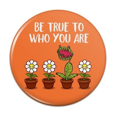 Be True To Who You Are Flowers Plants Compact Pocket Purse Hand Makeup Mirror