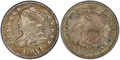 1823/2 Capped Bust Dime - Small E's - PCGS VF35 - JR-1 R3 - Nice Color!