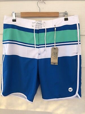 MENS HOLLISTER by ABERCROMBIE CLASSIC FIT SWIM BOARD SHORTS SIZE 34 NWT