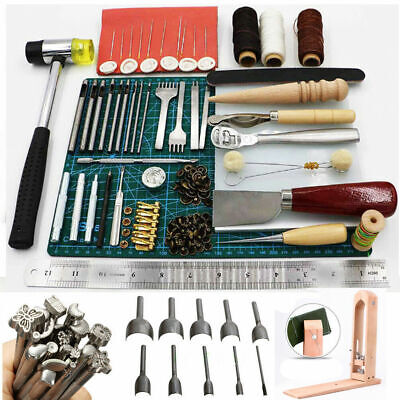 Full Set Leather Craft Tool Stamping, Hole Punch,Stitching, Leather Hand Working