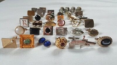 Lot of Antique Vintage Cufflinks Singles Kum A Part 925 Foster Hickok 36 pieces