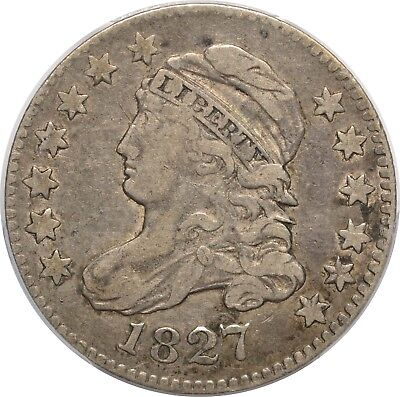 1827 Capped Bust Dime - PCGS(CAC) VF35 - JR-6 R2