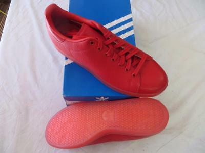 "Adidas Stan Smith Adicolor (S80248) Pharrell Men's Sz 11.5 Triple Red ""scarlet"""