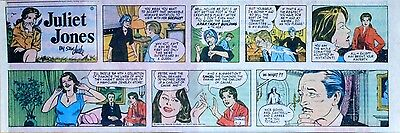 Heart of Juliet Jones by Stan Drake - lot of 6 Sunday comic pages from 1980