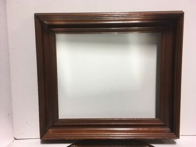 """VTG. Aesthetic Eastlake Victorian Wood Picture Frame Fits 11 1/4""""x 13 1/2"""""""