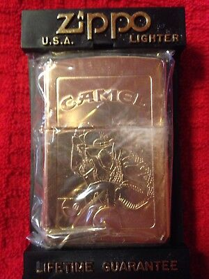 Camel Zippo Lighter Sureshot Joe Pool Player 22K Gold Plated 2-sided 1996