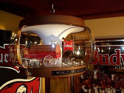 Vintage Budweiser Clydesdale Parade Carousel Beer Light Motion Rotating Sign