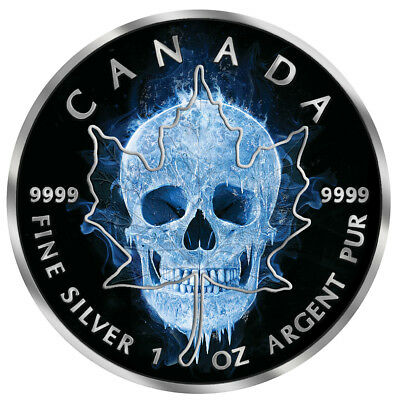 Canada 2017 5$ Maple Leaf - Ice Skull 1oz Silver Coin