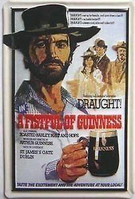 Guinness - A Fistful of Guinness embossed steel sign (hi 3020) New