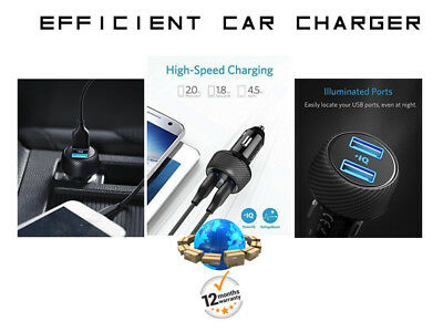 Oem Dual Fast Charging Car Usb Led Voltage Boost Charger for Samsung iPhone