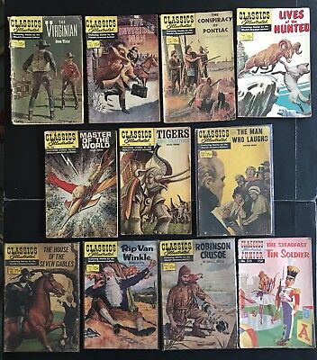 CLASSICS ILLUSTRATED: 11 SILVER AGE LOT COMICS. Free Shipping. Jules Verne.