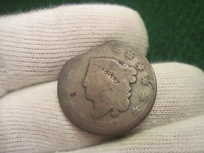 1833 Large Cent Clipped Brothel Token