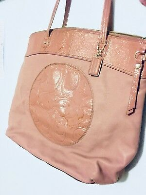 Coach Leather Tote light pink