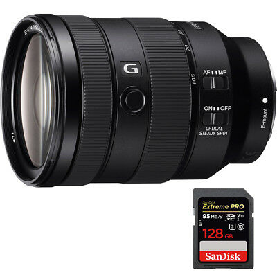 Sony FE 24-105mm F4 G OSS E-Mount Full-Frame Zoom Lens with 128GB Memory Card