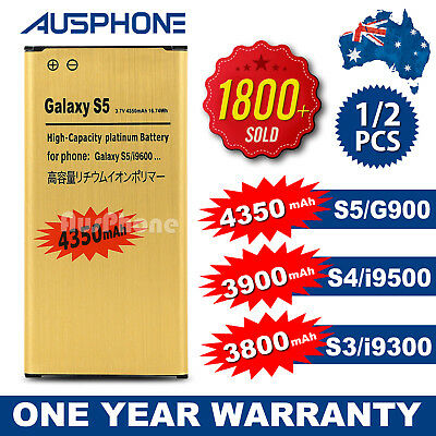 2x Li-ion Replacement Battery Gold High For Samsung Galaxy S5 S4 S3 Note 4
