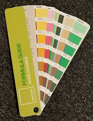 Pantone Formula color guide fan book- solid/uncoated
