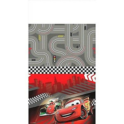 Disney Cars Formula Racer Birthday Party Table Cover, Gray/Bright Red , 5... New