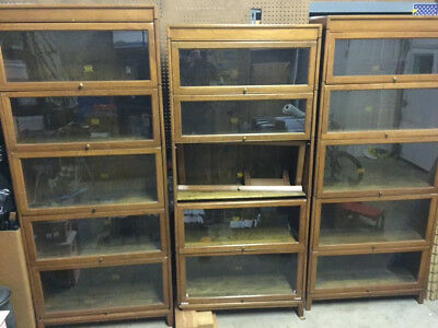 "Three (3) 5-section Antique ""Gunn"" Barrister/Bookcase"