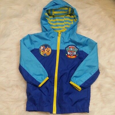 Disney Paw Patrol Toddler 2T Blue Hooded Jacket Patches