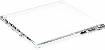 "Plymor Brand Clear Acrylic Square Beveled Display Base, .5"" H x 7"" W x 7"" D New"