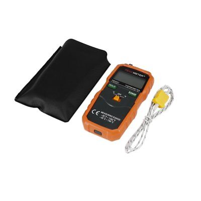 K-type LCD Display Digital Thermometer Temp Probe + PU Leather Storage Bag &@