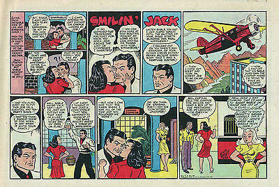 Smilin' Jack by Zack Mosley - half-tab color Sunday comic page - Sept. 28, 1947
